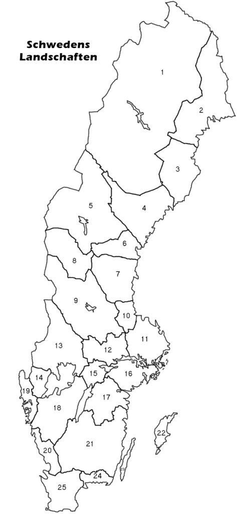 Landschaften in Schweden