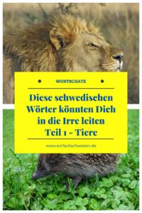 False Friends schwedisch deutsch Tiere Vokabeln Löwe Igel