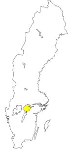 Närke, Landschaft in Schweden