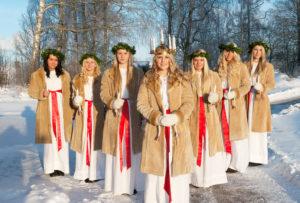 Cecilia Larsson Lantz-Lucia-Tag Lichterkönigin Lichterfest Schweden schwedische Tradition