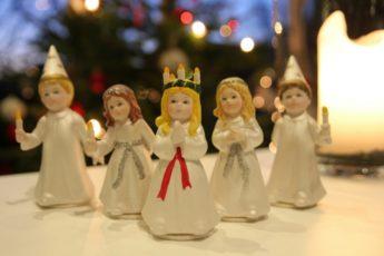 Lucia Lichterköniging 13.Dezember Lichterfest Schweden Tradition