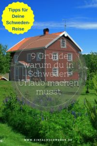 9 Gründe Urlaub Schweden rotes Schwedenhaus Garten