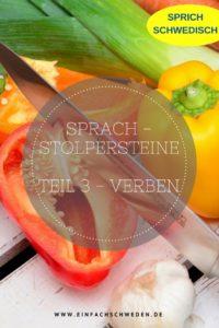False Friends schwedisch deutsch Verben Vokabeln Messer schneiden Paprika