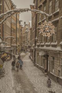 Stockholm Winter Gamla Stan Schweden Sweden Sverige