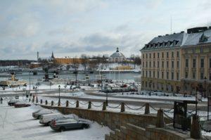 Stockholm Winter Königliches Schloss Schweden Sweden Sverige