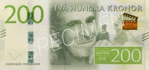 200 schwedische Kronen Geldschein Vorderseite
