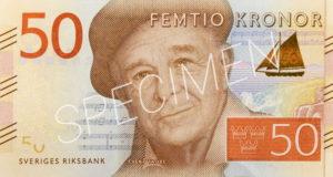 50schwedische Kronen Geldschein Vorderseite