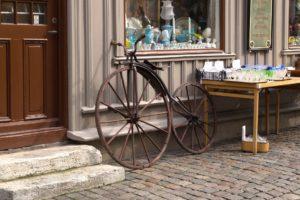 Göteborg Straße altes Fahrrad antik