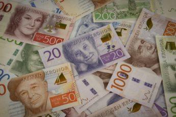 chwedisches Geld verschiedene Geldscheine Banknoten