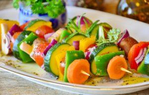 Gemüse Gemüse-Spieße gesund Mahlzeit