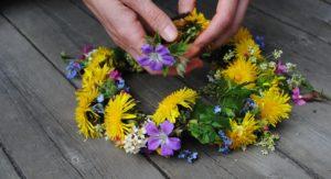 Blumenkranz Blumen Schweden Mittsommer