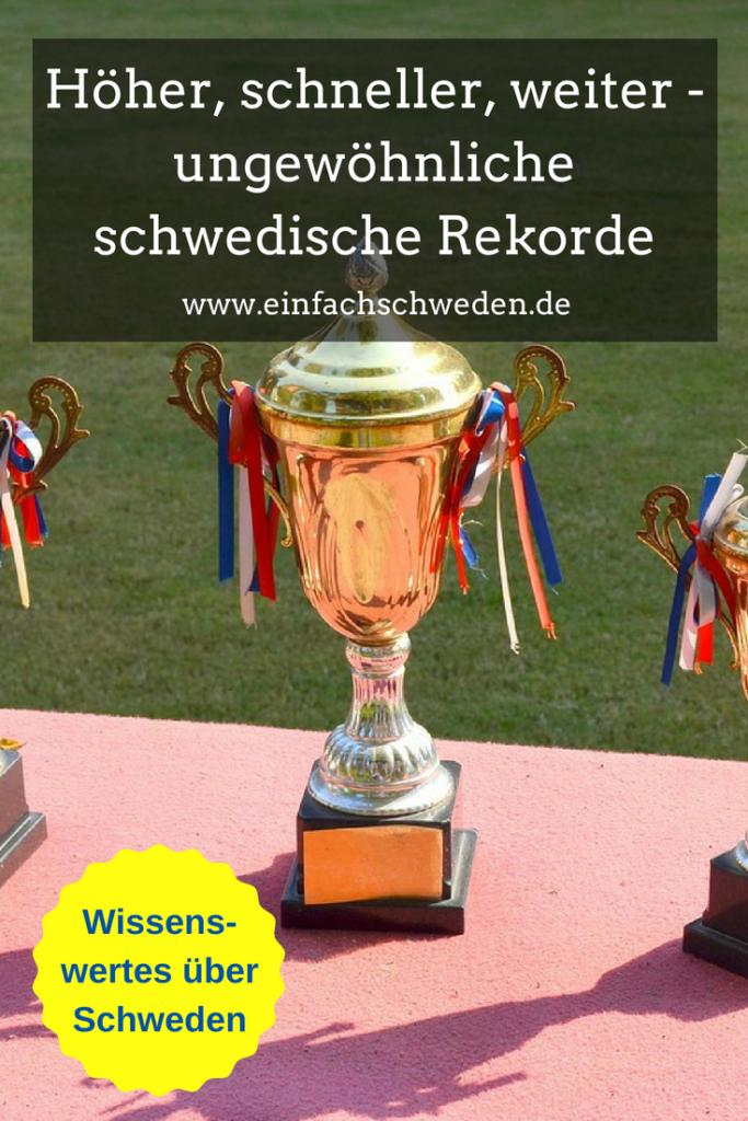 Schwedische Rekorde Platz 1 Pokal