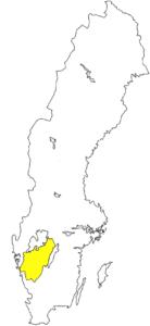 Västergötland Karte Umrisse Schweden