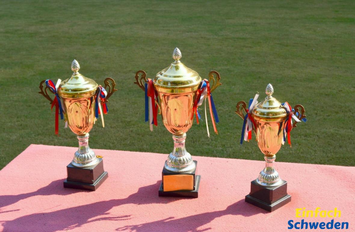 schwedische Rekorde Pokale Siegertreppchen