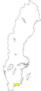 Blekinge Südschweden Landschaft Provinz Karte Schweden