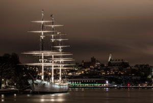 Segelschiff AfChapman Stockholm Schweden Sveriger Jugendherberge vandrahem