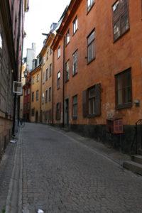 Stockholm Gamla Stan Gasse Straße alte Häuser Schweden Sweden Sverige