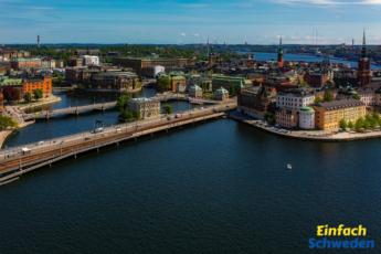 Stockholm im Sommer Schweden Sverige sommar Wasser