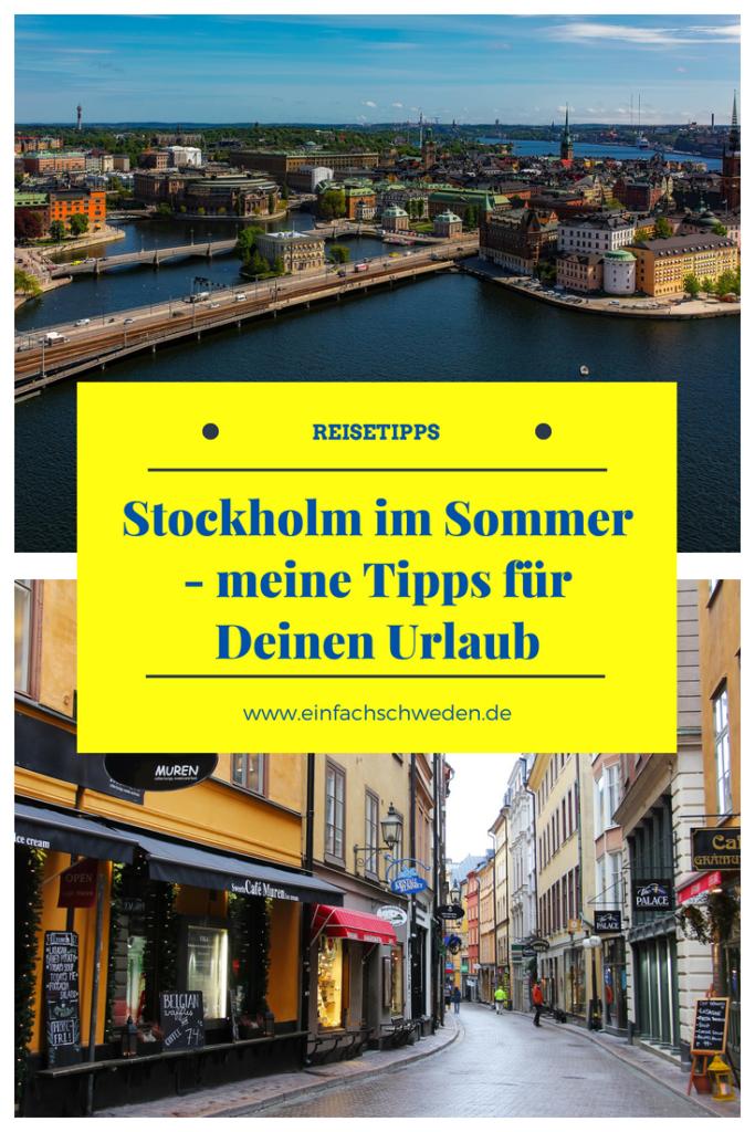 Stockholm im Sommer ist fantastisch und die Zeit vor Ort sicherlich zu kurz für alle Aktivitäten, die Du machen möchtest. Damit dir die Auswahl etwas leichter fällt, habe ich Dir meine Tipps zusammengestellt. #stockholm #sommer #schwedenurlaub #urlaubinstockholm #einfachschweden