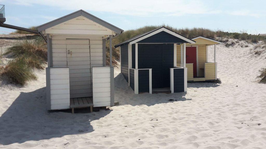 Badehäuser Badehäuschen Skanör Strand Sand Dünen Schweden Skåne