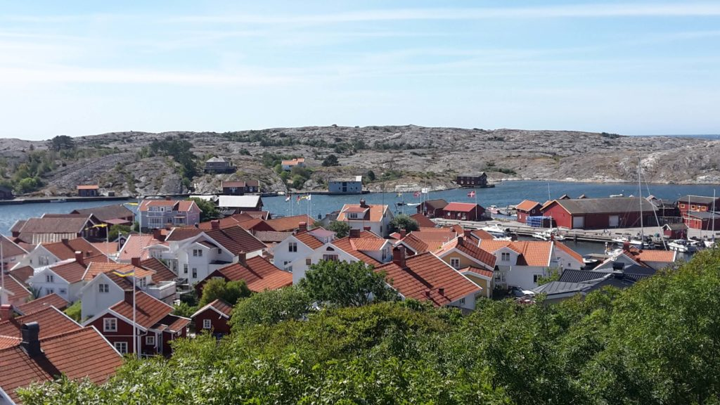 Mollösund Bohuslän Schweden Westküste Klippen Häuser Sommer