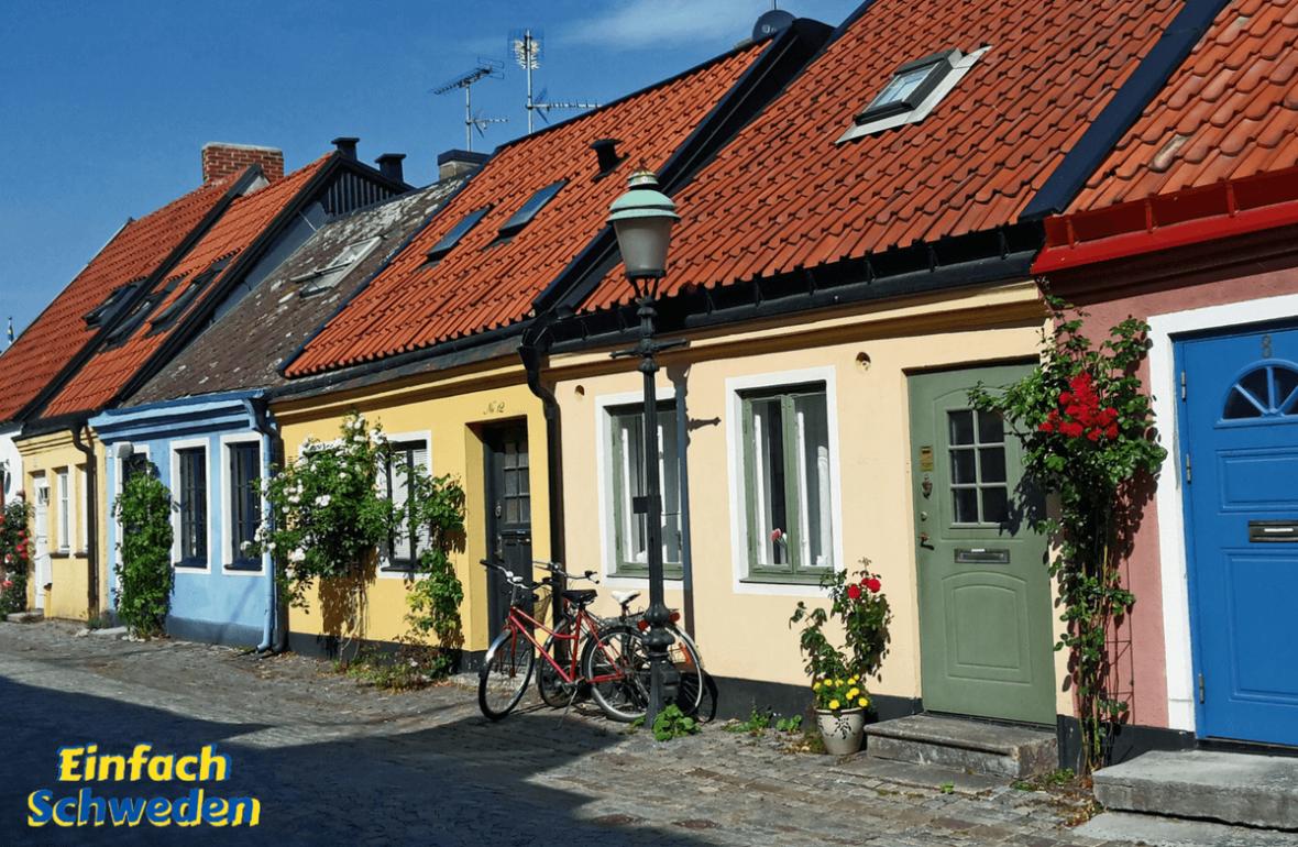 Sommer in Schweden Reise Teil 1 Ystad Häuser