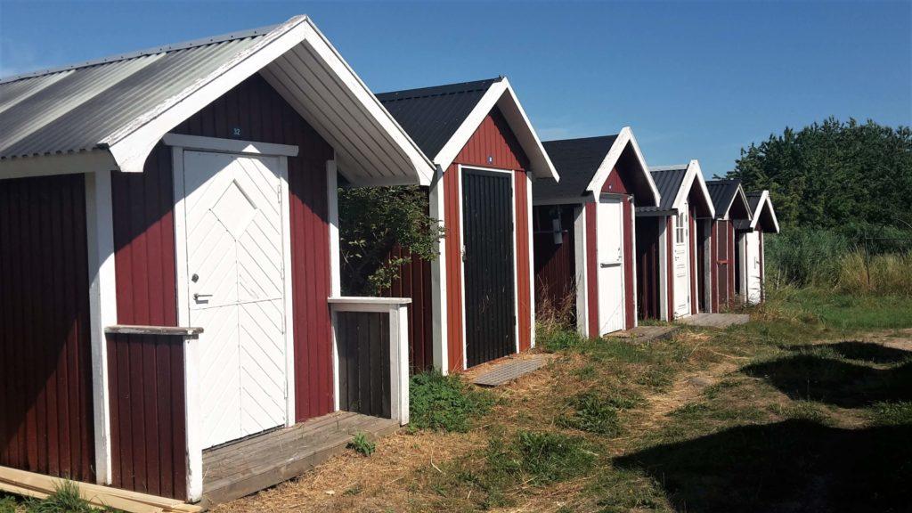 rote Badehäuschen Kivik Österlen Skåne Schweden
