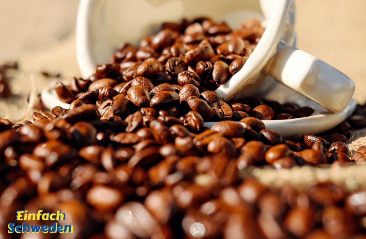 Kaffee in Schweden Kaffeebohnen Tasse Getränk Genuss