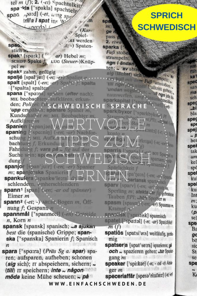Schwedisch lernen Tipps Sprache Wörterbuch deutsch tyska svenska
