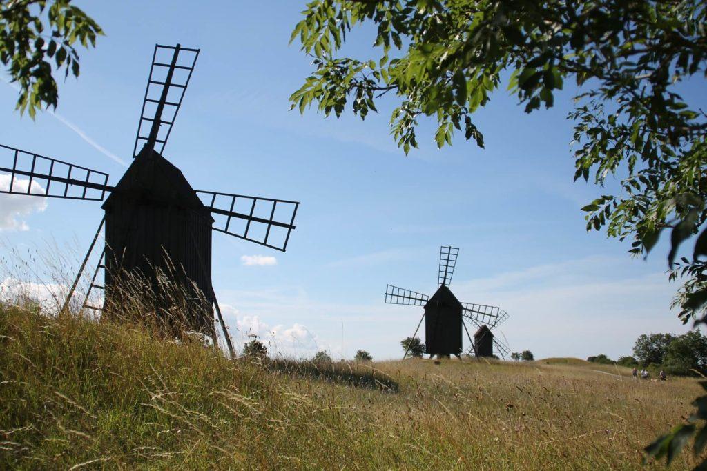 Öland Mühle Mühlen Himmel Insel Landschaft Schweden Sweden Sverige