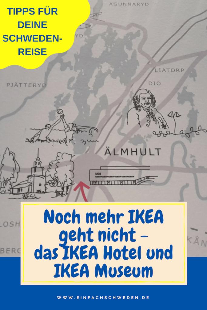 In Älmhult ist die Wiege von IKEA, dem schwedischen Möbelhandel, der auf der ganzen Welt bekannt ist. Im IKEA Hotel und IKEA Museum kannst Du viel über das beeindruckende schwedische Unternehmen lernen. #einfachschweden #ikea #älmhult #ikeainälmhult #schweden #urlaubinschweden