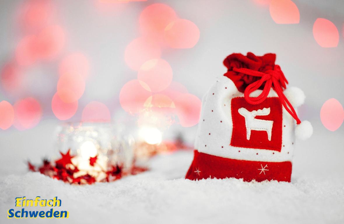 Geschenke Tipps für Schwedenfans Schwedenliebhaber Beutel Elch Weihnachten