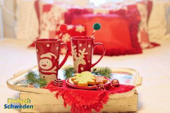 Adventskalender Skandinavien Schweden Norwegen Finnland Island Dänemark Becher Kekse Advent Weihnachten