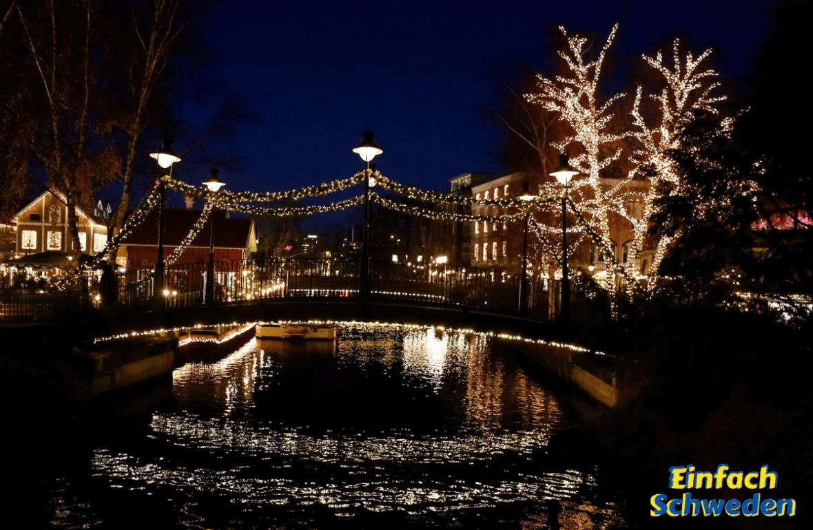 Göteborg im Winter Lichter bezaubernd Liseberg