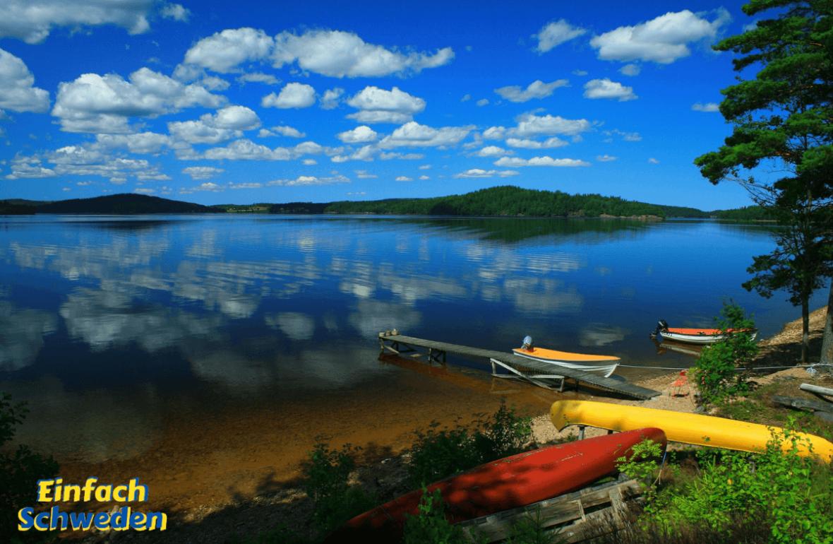 Allemansrätten - Jedermansrecht Wasser See Natur Boote Strand Schweden