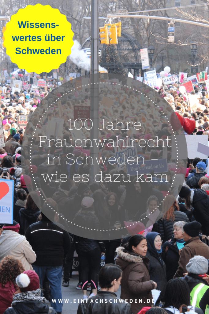 Das Frauenwahlrecht in Schweden feiert in diesem Jahr sein 100jähriges Bestehen. Hier kannst Du lesen, wie es dazu kam und welche Hürden bis zum Erfolg genommen werden mussten. #einfachschweden #schweden #frauenwahlrecht #stimmrecht