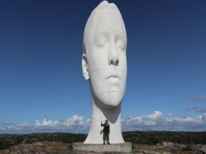 Pilane Skulptur Anna Bohuslän Schweden Schwedenreise Urlaub