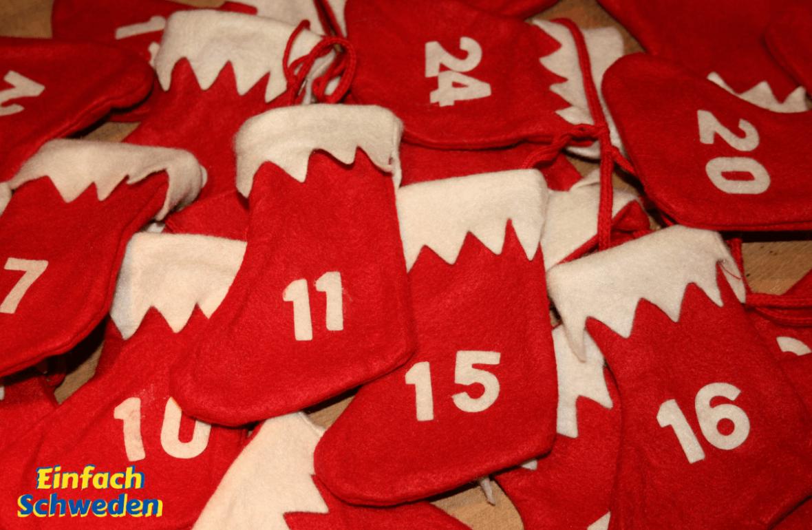 Adventskalender Säckchen Söckchen Weihnachten Vorfreude