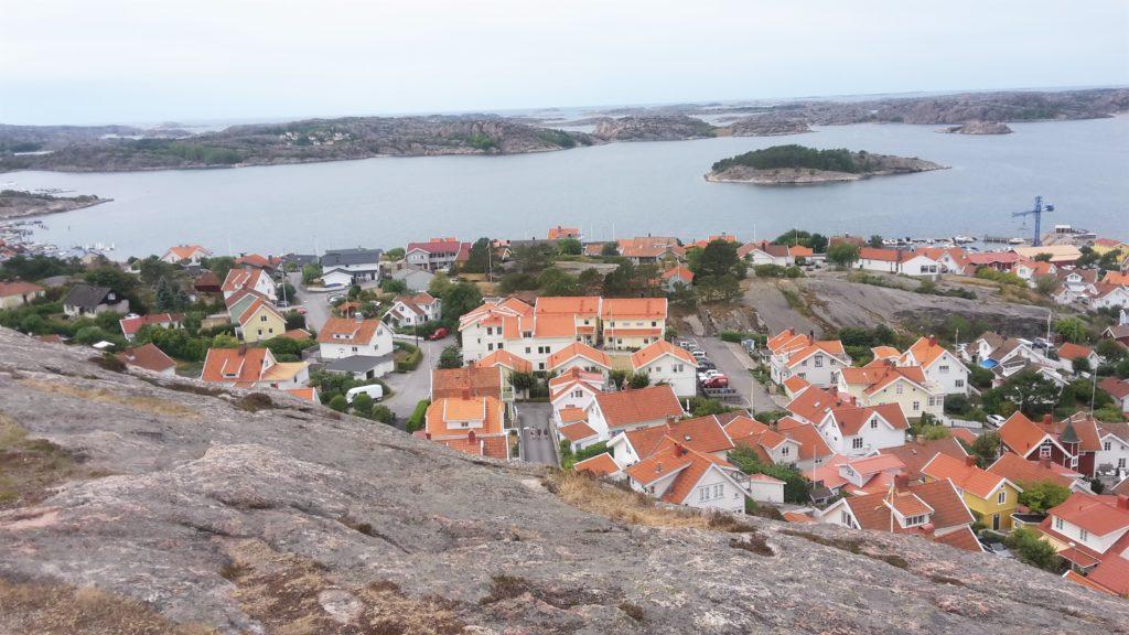 Fjällbacka Bohuslän Westküste Västkust Schweden Klippen Häuser Wasser