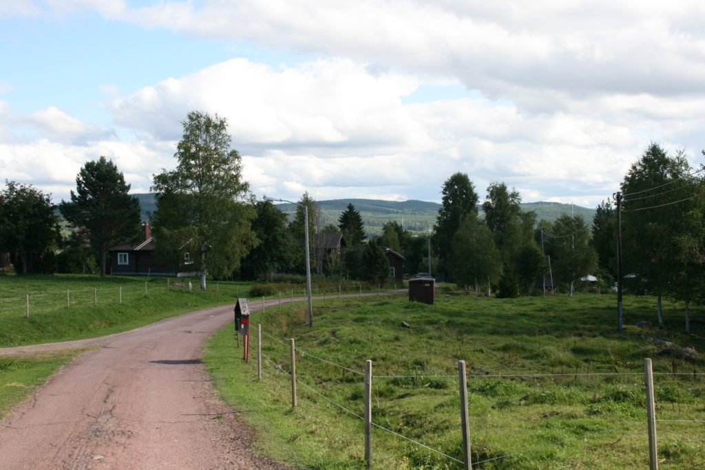 Klockarberg Schweden Dalarna Weite Wiese