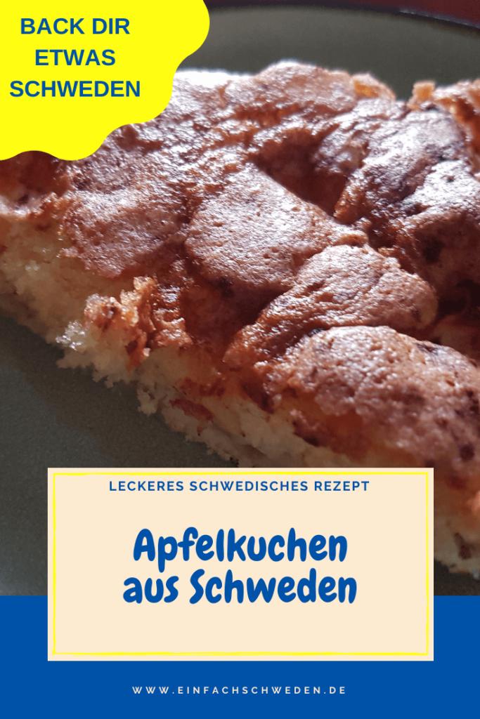 Ein schwedischer Apfelkuchen ist nicht nur lecker, sondern ist auch schnell gebacken. Und mit dem Rezept aus Schweden fühlst Du Dich wie in das beliebte Urlaubsland versetzt. #einfachschweden #apfelkuchen #kuchenausschweden #schweden #kulinarischesschweden