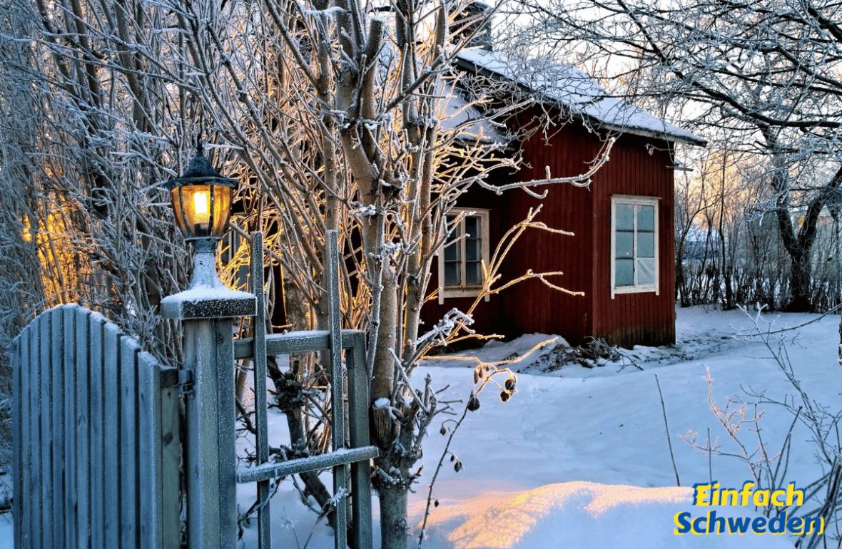 Jahresrückblick 2019 EinfachSchweden Schweden Schnee Winter rotes Haus