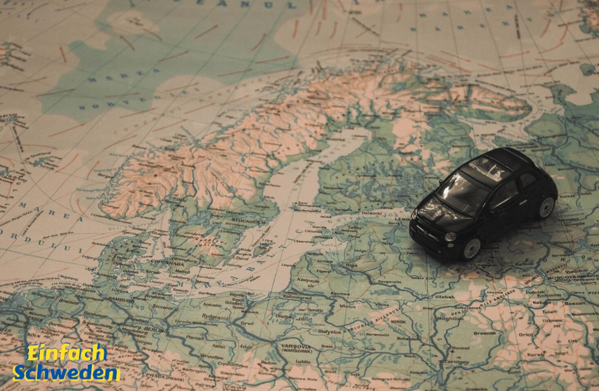 Auto fahren Schweden Urlaub Reise