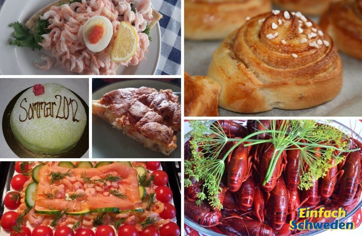 typisch schwedisches Essen zimtschnecken Apfelkuchen räkmacka