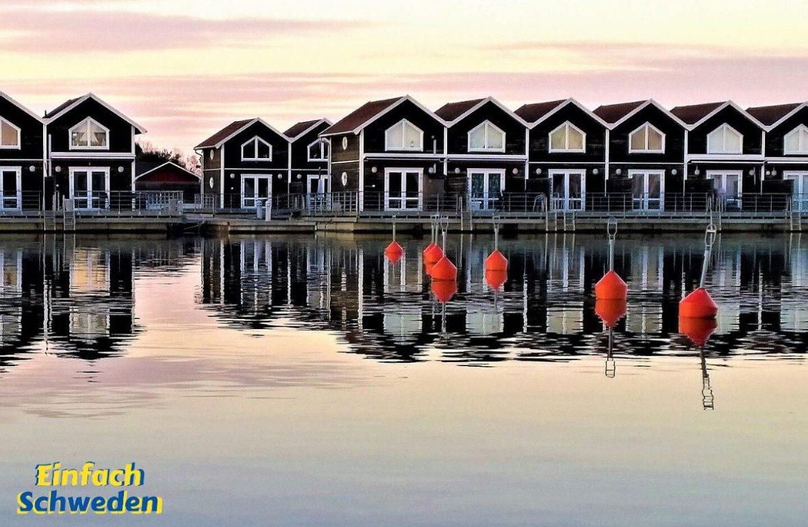 Dalsland Landschaft Schweden Bootshäuser Vänern See