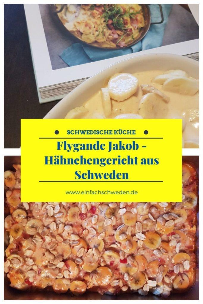 Ein Kultrezept aus Schweden aus den 70er, was auch heute immer noch sehr beliebt ist, ist der Flygande Jakob. Exotisch und einfach nur lecker. #einfachschweden #schwedischeküche #kulinarischesausschweden #typischschwedisch #schwedischesessen #tastethenorth