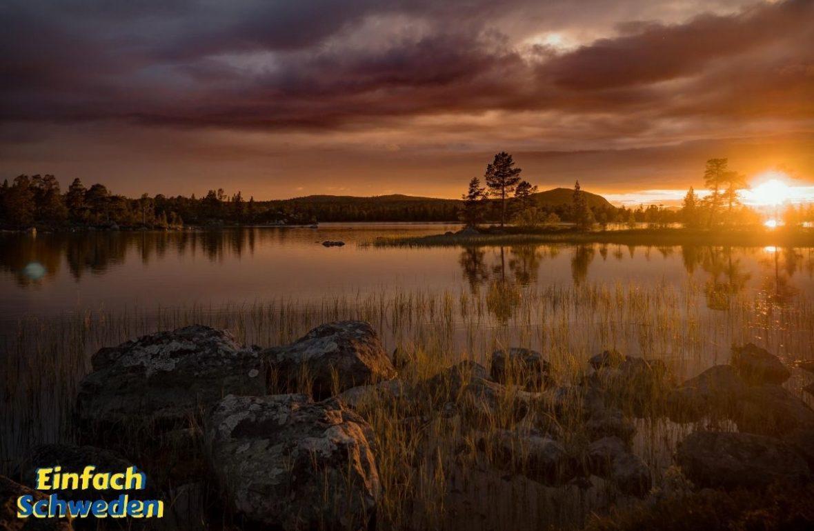Härjedalen Landschaft Schweden Natur See Sonnenuntergang