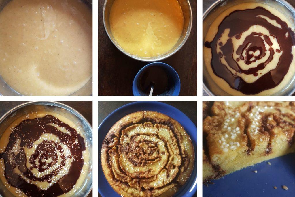 Zimtschnecken-Kuchen schwedisch Kladdkaka Step by Step