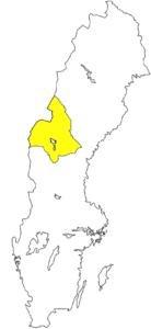 Jämtland Schweden Landschaft Norrland Karte