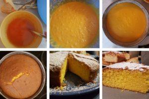 einzelne Schritte Safranrührkuchen